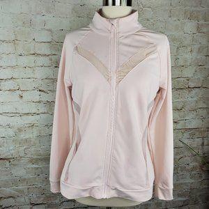 Fabletics Pink Mock Neck Full Zip Jacket M  EUC